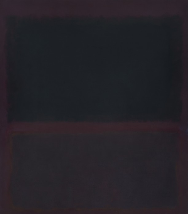 Black on Dark Sienna on Purple