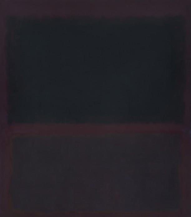 Black on Dark Sienna on Purple