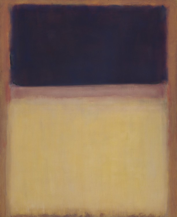 No. 9 (Dark over Light Earth/Violet and Yellow in Rose)