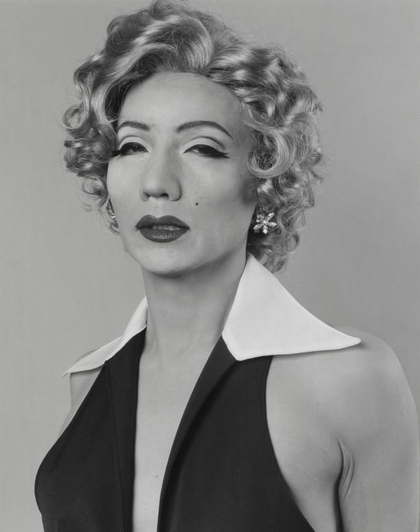 Self-Portrait b/w / After Marilyn Monroe