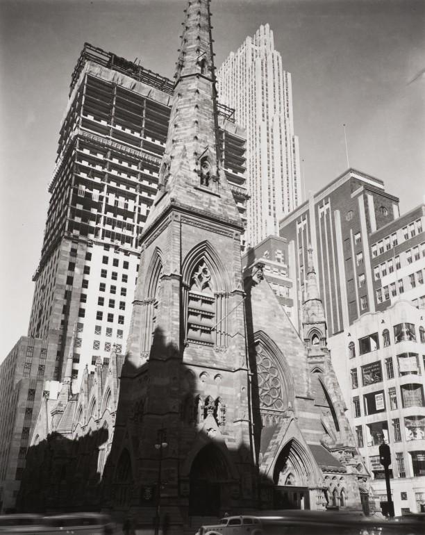 Rockefeller Center with Collegiate Church in foreground, New York