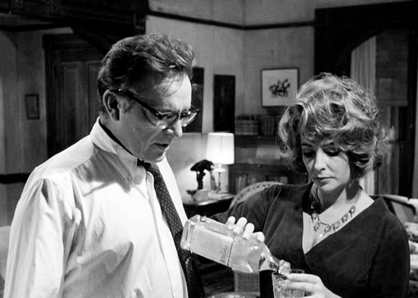"Elizabeth Taylor with Richard Burton in ""Who's Afraid of Virginia Woolf"" (1966)"