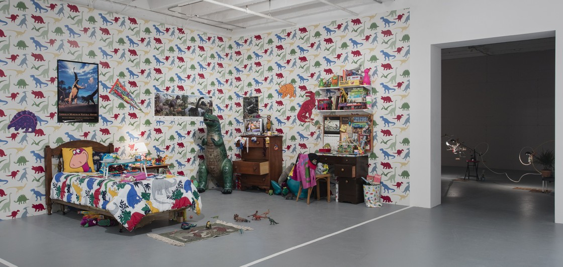 Installation view of Don't Look Back: The 1990s at MOCA, March 12–July 11, 2016 at The Geffen Contemporary at MOCA, courtesy of The Museum of Contemporary Art, Los Angeles, photo by Brian Forrest