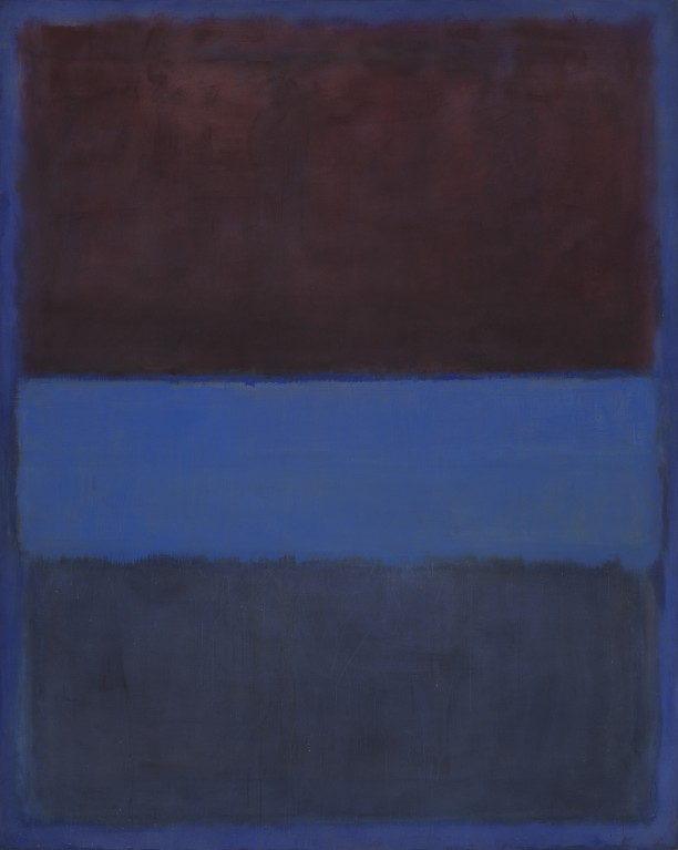 No. 61 (Rust and Blue) [Brown Blue, Brown on Blue]