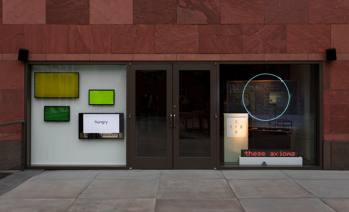 storefront: THIS KNOWN WORLD: Spontaneous Particulars of the Poetic Research Bureau Installation View 01