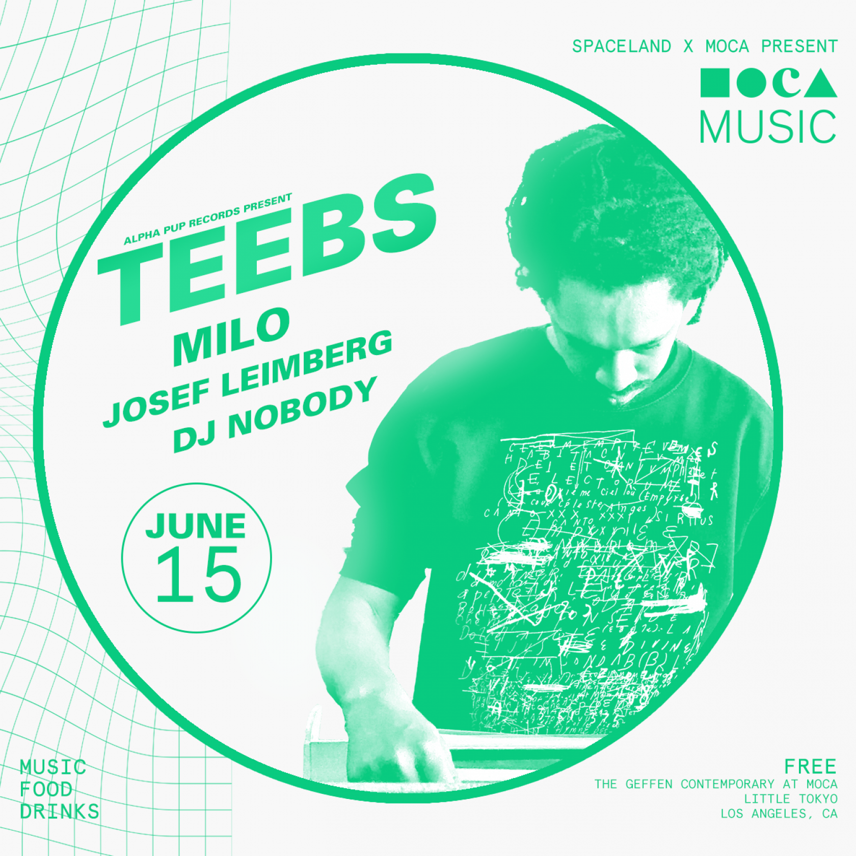 MOCA Music: Teebs, Milo, Josef Leimberg, and DJ Nobody