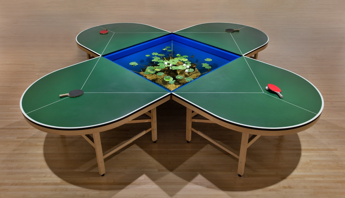 ping pond table mesa de ping pong con estanque moca. Black Bedroom Furniture Sets. Home Design Ideas