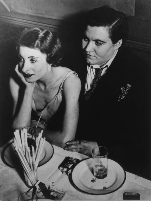A couple at Le Monocle