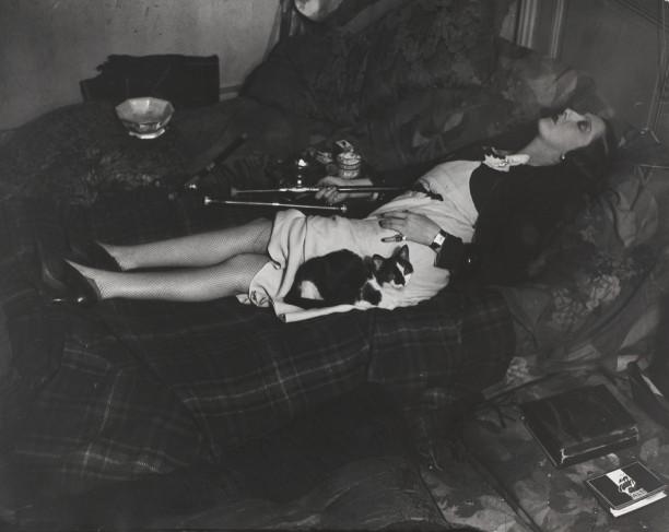 An opium smoker asleep