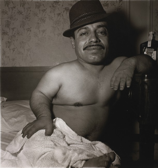 Mexican dwarf in his hotel room in N.Y.C.