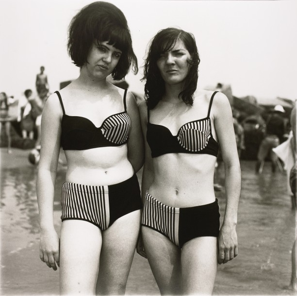 Two girls in matching bathing suits, Coney Island, N.Y.