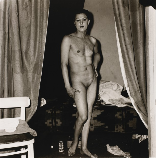 A naked man being a woman, N.Y.C.