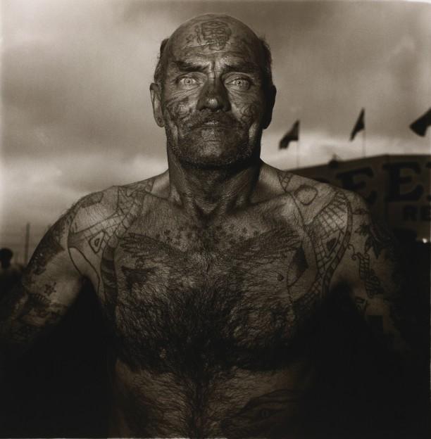 Tattooed man at a carnival, Md.