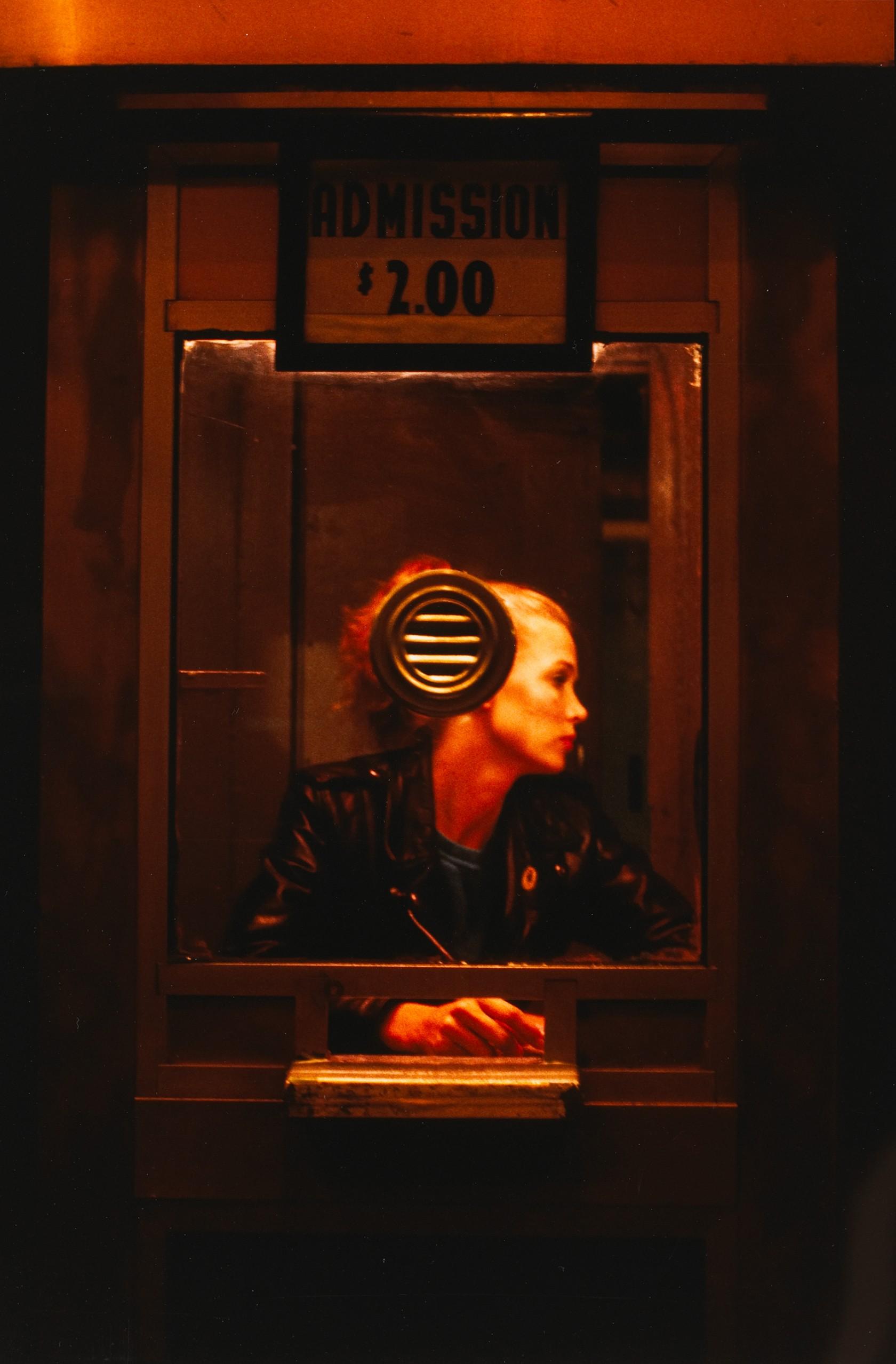 "Nan Goldin, ""Variety"" booth, New York City"