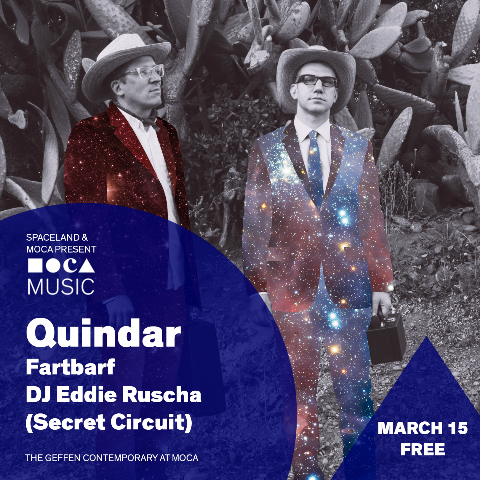MOCA Music: Quindar, Fartbarf, and DJ Eddie Rusche / Secret Circuit
