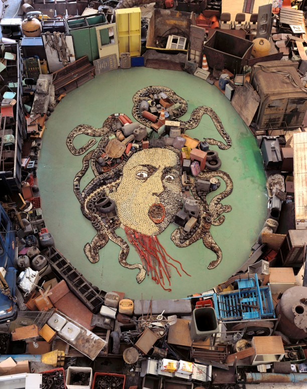 Medusa, after Caravaggio (Pictures of Junk)