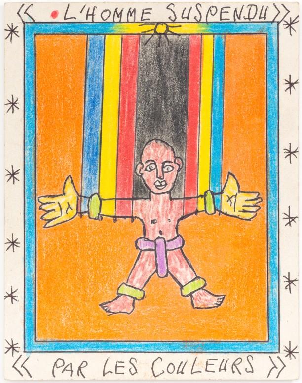 Untitled (L'homme Suspendu Par Les Couleurs)