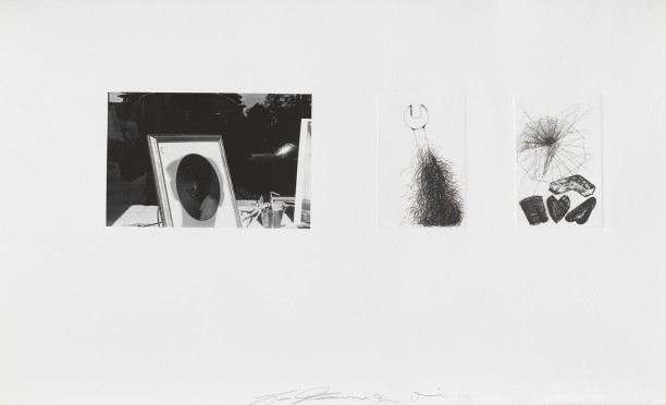 Untitled (Lee Friedlander self portrait and two etchings)
