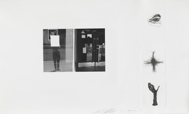 Untitled (John Fitzgerald Kennedy photograph and three etchings)