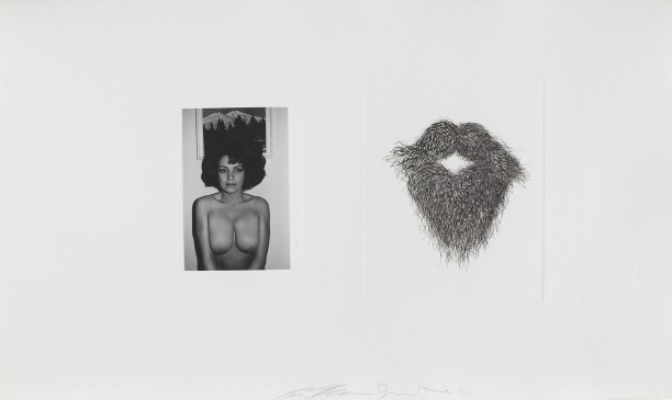 Untitled (topless woman with mustache and beard)