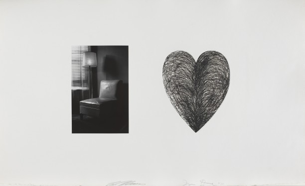 Untitled (chair with lamp and heart)