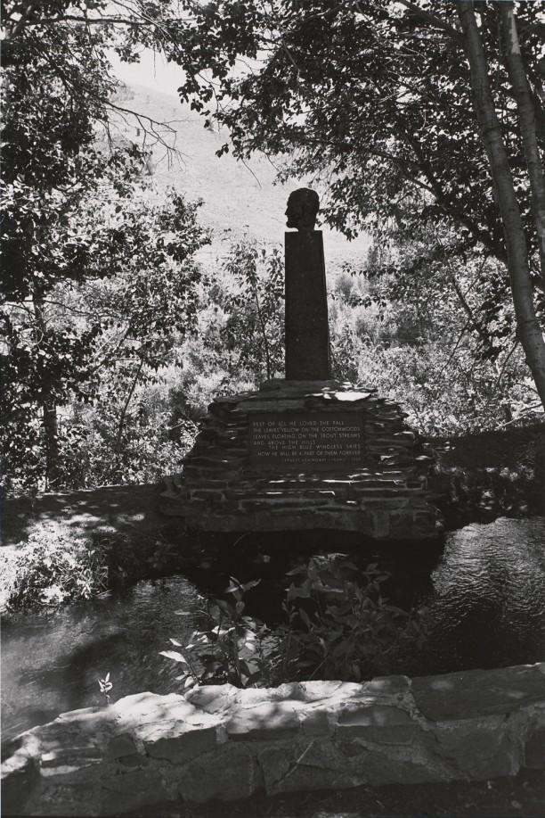 Ernest Hemingway: Overlooking Trail Creek Near Ketchum, Idaho