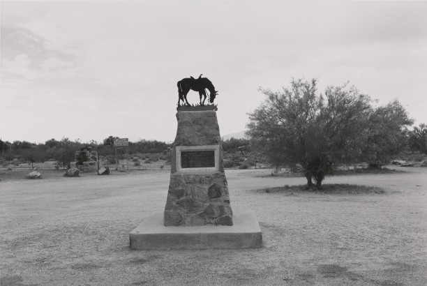 In Memory of Tom Mix. Near Florence, Arizona