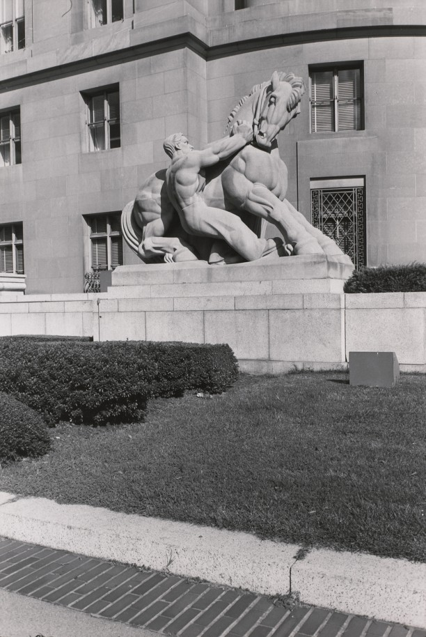 Man Controlling Trade. Federal Trade Commission Building, Washington D.C.