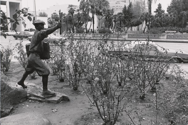 Newsboy, From the Otis Memorial. MacArthur Park, Los Angeles, California