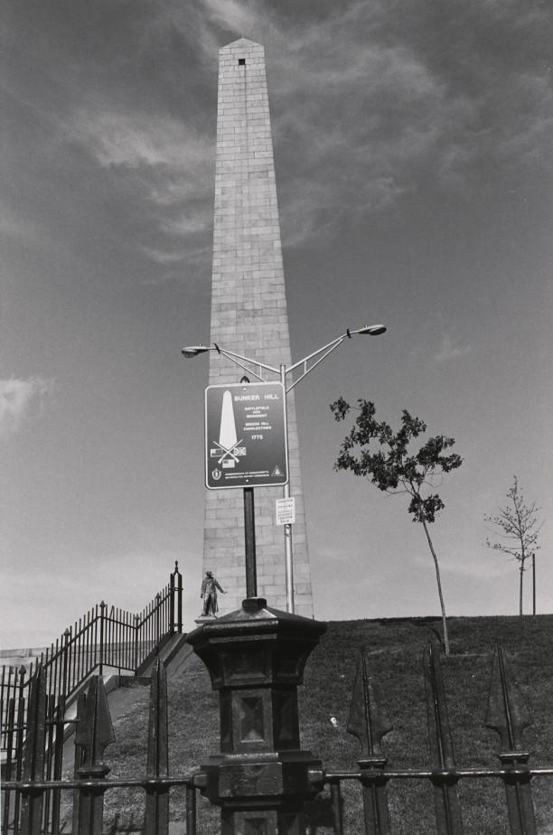 Bunker Hill Monument and Statue of William Prescott. Boston, Massachusetts