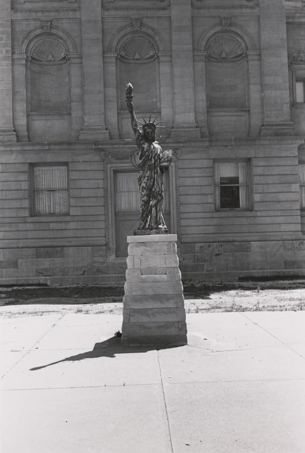 A Boy Scout Statue of Liberty. Madison, Indiana