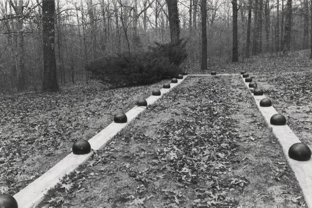 Untitled from Shiloh National Military Park, Tenessee (view from inside rectangle with balls)