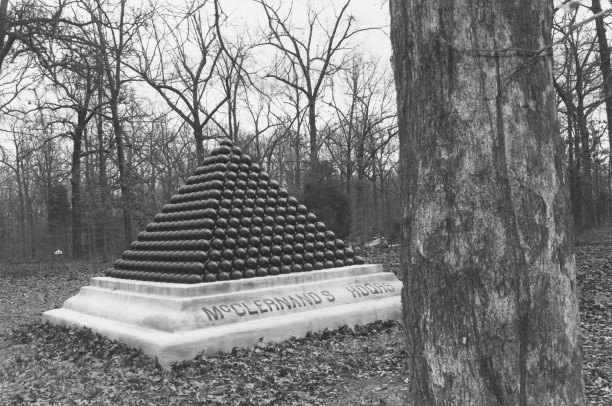 Untitled from Shiloh National Military Park, Tenessee (McClernand's headquarters/cannon ball pyramid)