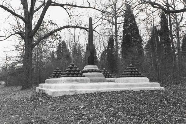 Untitled from Shiloh National Military Park, Tenessee (upright cannon with balls)