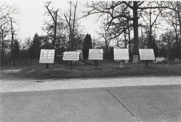 Untitled from Shiloh National Military Park, Tenessee (five texts and gravestones)