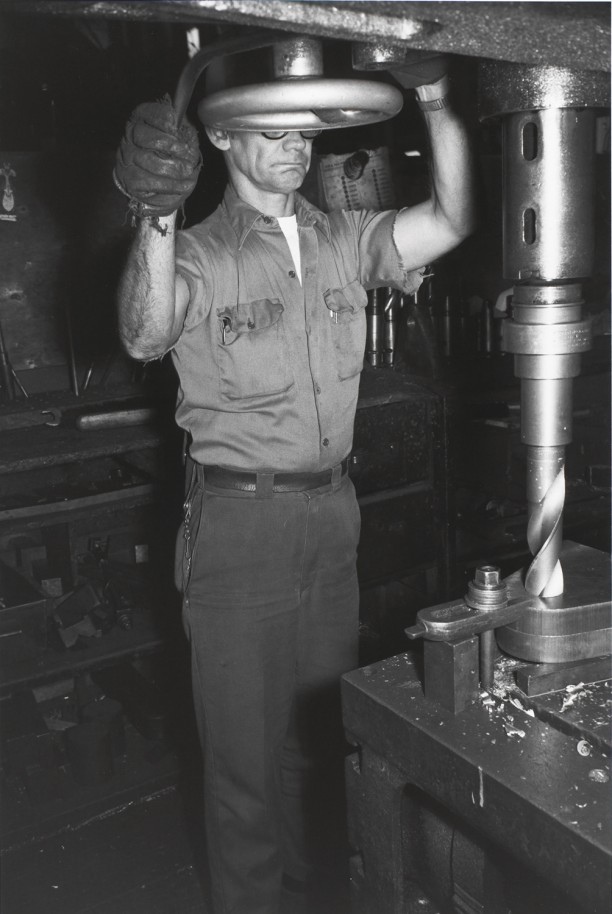CLEVELAND, OHIO (man and drill press)