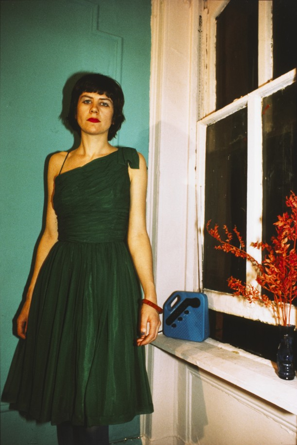 Vivienne in the green dress, New York City