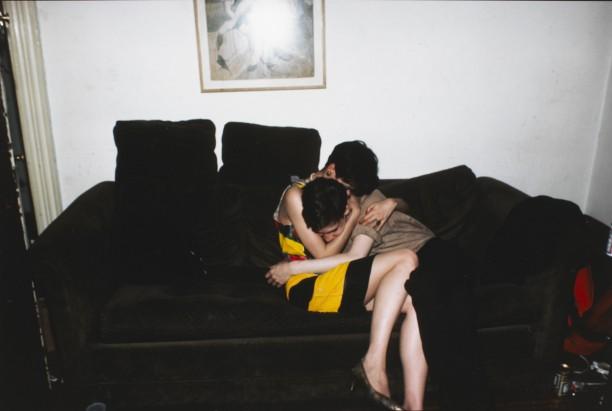 Mary and David hugging, New York City