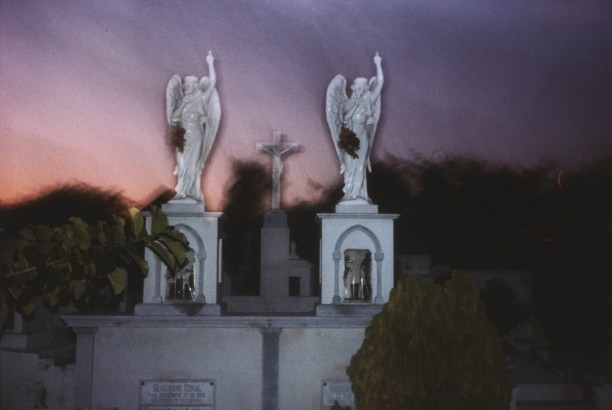 Twin graves, Isla Mujeres, Mexico