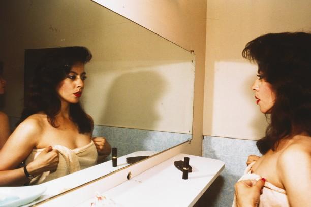 Sandra in the mirror, New York City
