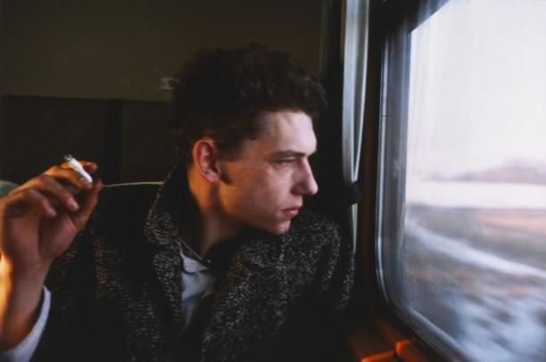 Dieter on the train, Sweden