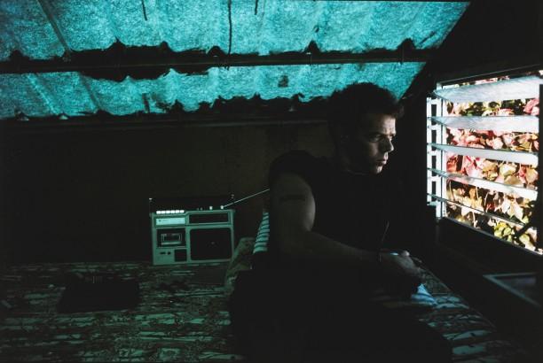 Brian in the cabana, Puerto Juarez, Mexico