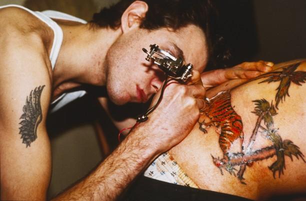 Mark tattooing Mark, Boston