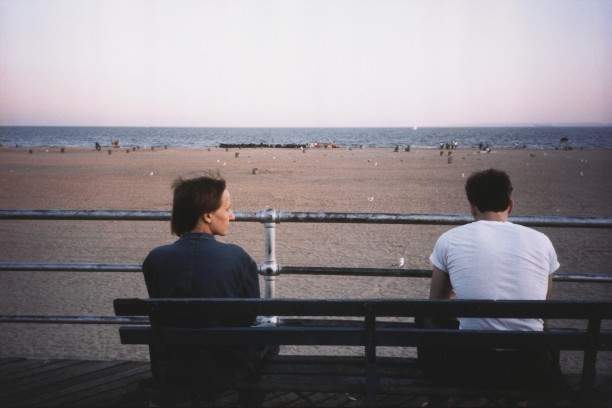 Suzanne and Brian on the bench, Coney Island