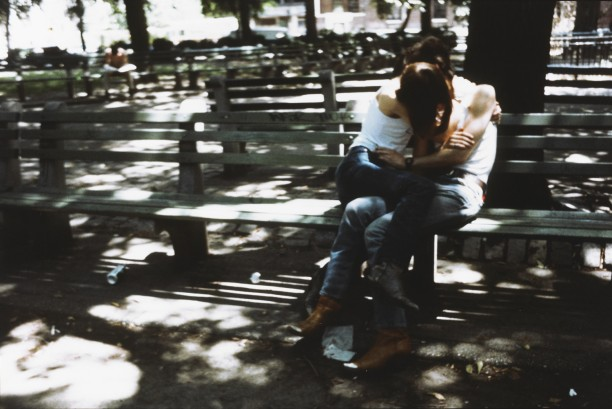 Suzanne and Philippe on the bench, Tompkins Square Park, New York City
