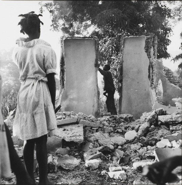 Cap Haitian. The ruins of an office of the Tontons Macoute