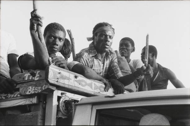 Revolutionaries from Gonaïves hunt the Tontons Macoute, Gros-Morne