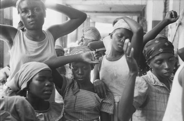 Haitian women, March 1986