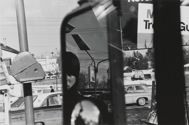Untitled (Filling Station-Rear View Mirror)