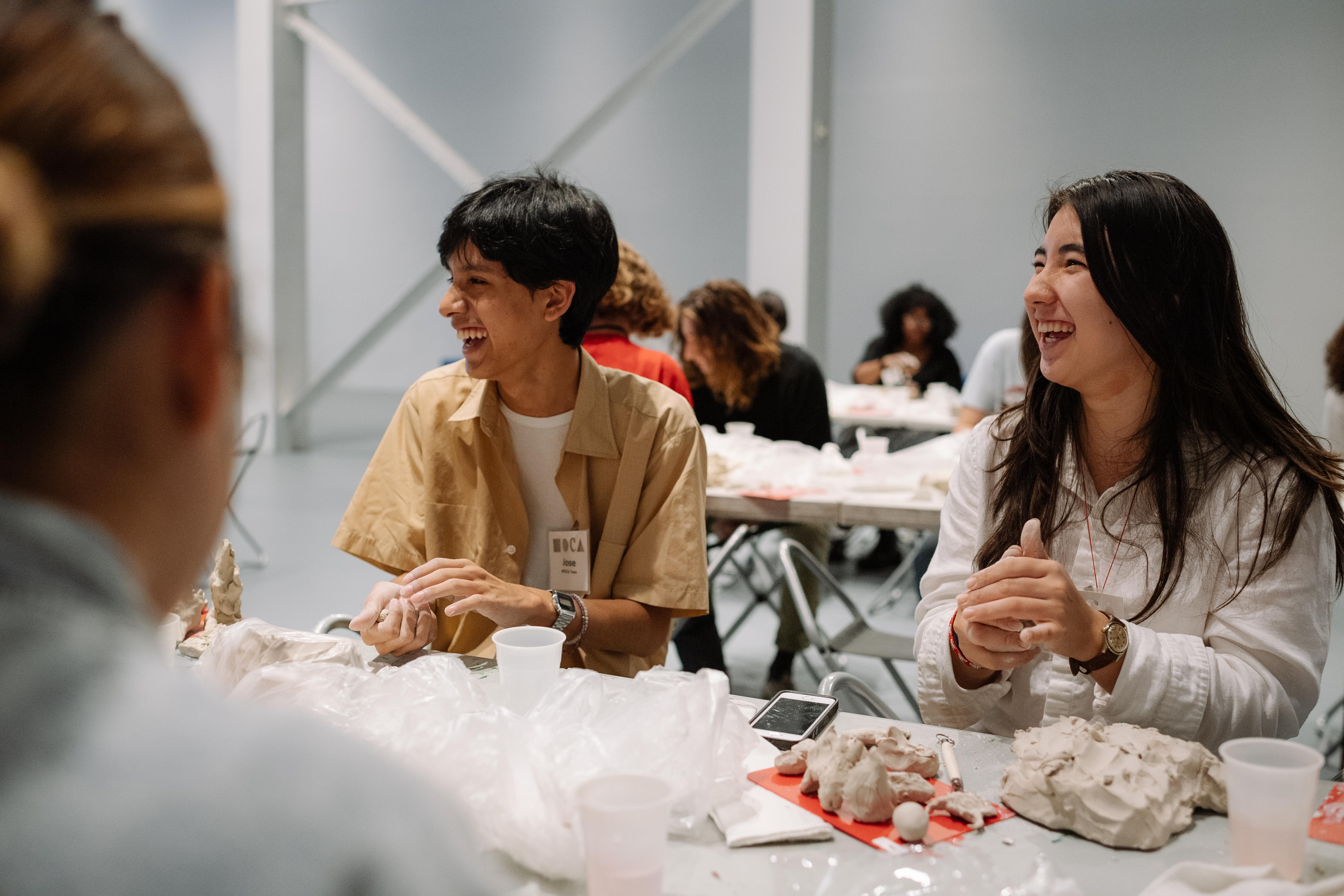 MOCA Teen Workshop. Photo by Nico Therin, 2018.